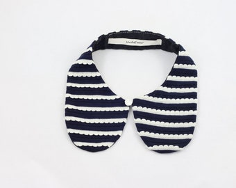 Navy Lace Detachable Peter Pan Collar, Tokyo Fashion, Sweet Streets
