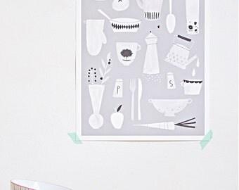 Kitchen print - A3