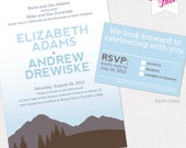 Mountain View Wedding Invitation Suite
