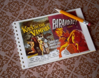 Kiss of the Vampire / Paranoic Notebook Journal spiral bound postcard
