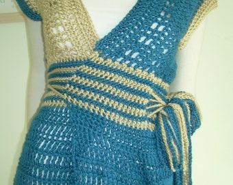 Two Tone Wrap Sweater