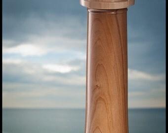 Lighthouse Tea Light Holder of American Cherry & Hard Maple - Large