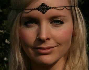 Headpiece / Headchain / headdress Hand made unique, cruelty free Goddess, princess,