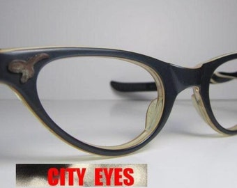 1950s Two-Tone Cat Eyes optical frames for Eyeglasses or Sunglasses NEW OLD STOCK