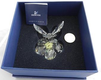 Swarovski Crystal Butterfly on Flower