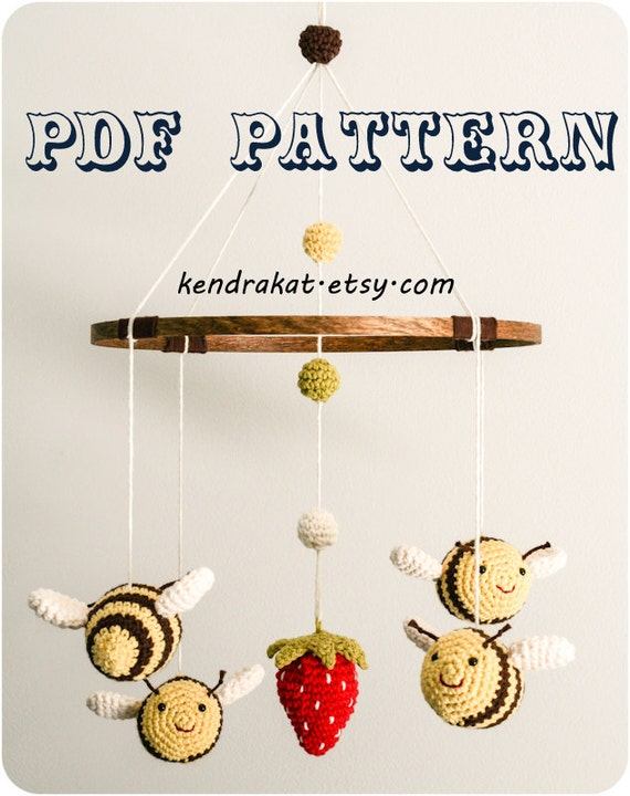 The Bee's Mobile Crochet Pattern