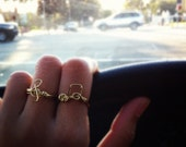 Band Geek Music Note Wire Rings (Set of 2 rings)