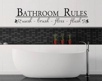 bathroom rules bathroom decals bathroom decor wall decal wall vinyl vinyl