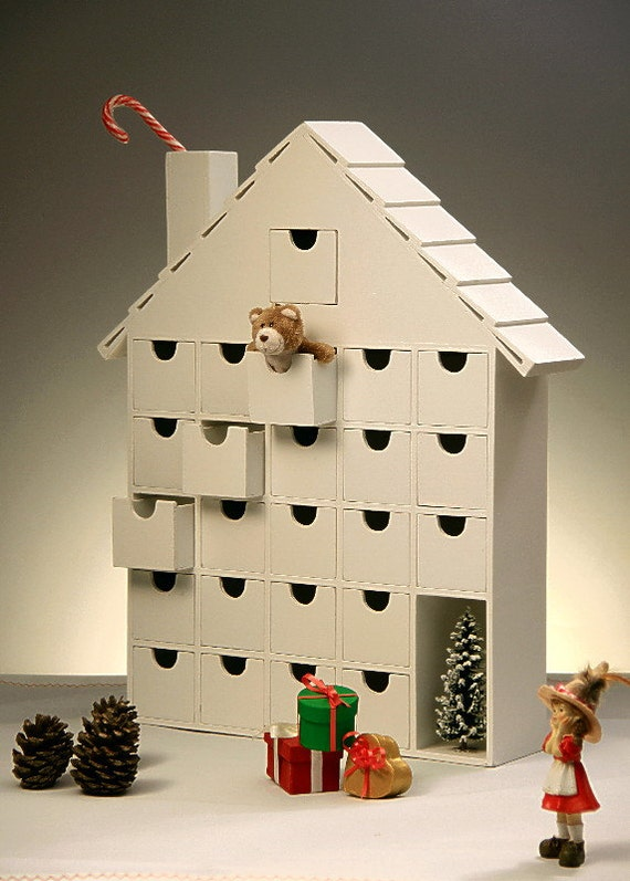 Advent Calendar House Diy : On sale wooden advent calendar diy fast shipping to the