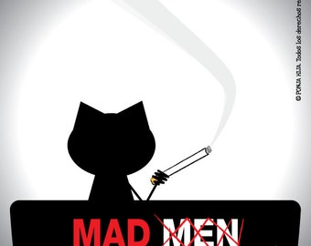 Mad Men, sticker 3.9 x 3.9 in