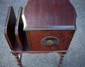 Antique Copper Lined Humidor Smoking Stand Table