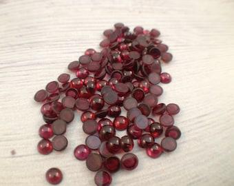3MM Natural Garnet round loose cabochon, semi precious gemstone, Valentine jewelry, size: 3.00 mm, 30 pcs or 60 pcs