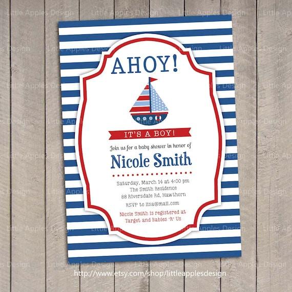 nautical invitation nautical baby shower invitation baby