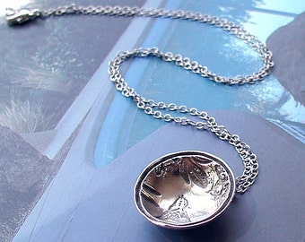 Birdies Are Sweet Lil Bowl In Sterling With Perfect Matching Sterling Silver Chain OOAK Artist Design Handcrafted