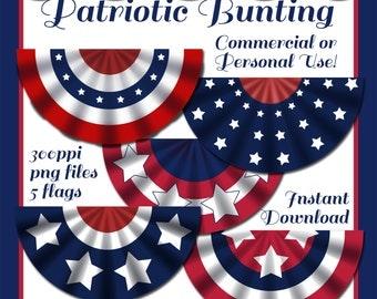 Patriotic bunting | Etsy