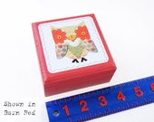 Baby OWL Box - Owl Novelty Box Organizer - Owl theme Ring and Jewelry Box - Owl Tooth Fairy Box - Pick your own color