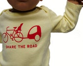 SHARE THE ROAD Infant Long Sleeve Lap Tee (3-6m, 6-12 m, 12-18 m)