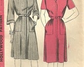 Vintage 40s Sewing Pattern / Hollywood 1552 / Dress / Size 16 Bust 34