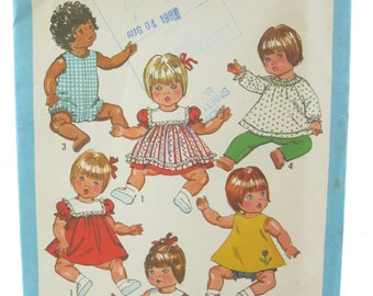 "Simplicity 9508 Baby Doll Wardrobe Size 15""-17"" Vintage Sewing Pattern"