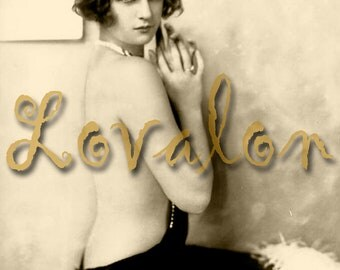 MATURE... Haute Couture... Instant Digital Download... 1920's Vintage Erotic Nude Photo Image by Lovalon