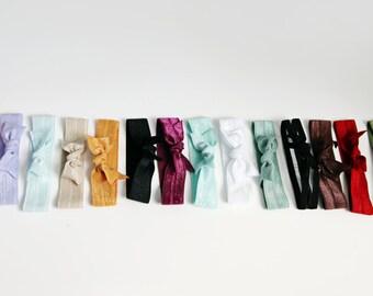 Hair Tie Bracelet - Set of 17 - Hair Ties - You Choose The Colors
