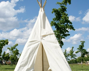 Teepee, playtent indoor and outdoor, tipi - Cover only & FREE SHIPPING Great for Birthdays and Weddings