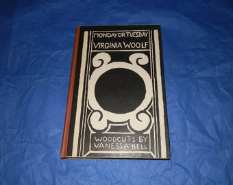 Virginia Woolf Collectible Book Rare First Edition First Printing Hardcover Book Monday or Tuesday 1921 Best Copy Around