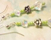 SALE- AB Rainbow Crystals Flower Dangles- 8.95