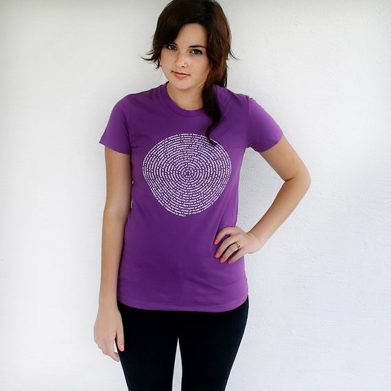 Womens Purple T shirt - Animal Collective Nouns, back to school gift for her, organic cotton, american apparel  t-shirt