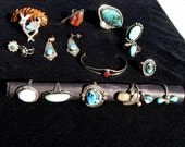 Reserved -Sterling and Turquoise Jewelry Lot