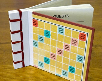 Custom Scrabble Guest Book