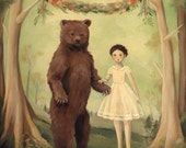 In the Spring, She Married a Bear / Large Print 11x14 by Emily Winfield Martin