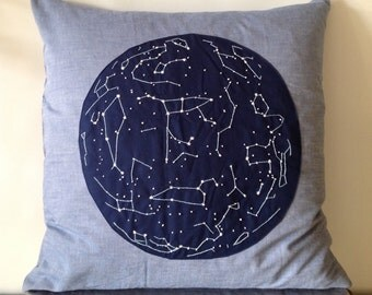 Embroidered Star Map/ Constellation Pillow (Ursa Major)