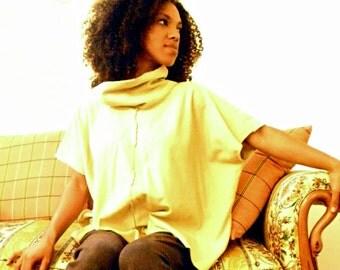 The Berkeley cowl neck top in Organic Hemp Fleece. Womens organic clothing. Made to order.