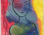 I'm perky underwater aceo