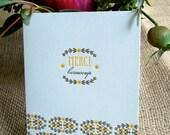 Merci Beaucoup Bloom - Letterpress Card