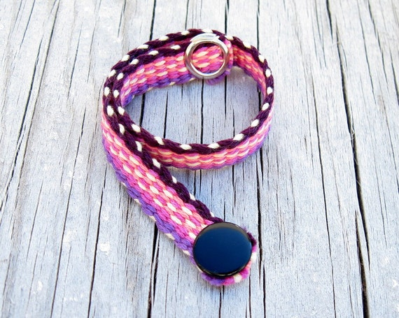Woven Gift Bracelet, Pink Purple and Yellow Bracelet, Small Bracelet, ANIMALS