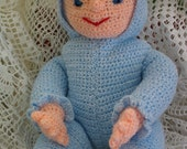 Blue Baby Doll Toy Crochet Pattern