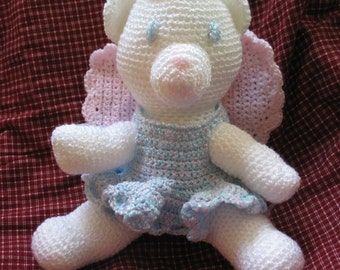 Angel Bear Stuffed Animal Toy Crochet Pattern