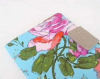 Kindle Cover Kindle Fire Cover Nook Simple Touch Cover iPad Mini Cover Kobo Cover Case Sketchbook Roses Amy Butler eReader