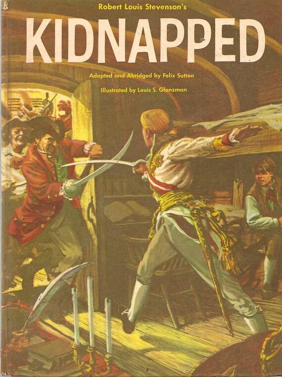 VINTAGE KIDS BOOK Robert Louis Stevenson's Kidnapped