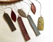 Stoneware Ceramic Garden Chimes, Organic Botanical, Made to Order