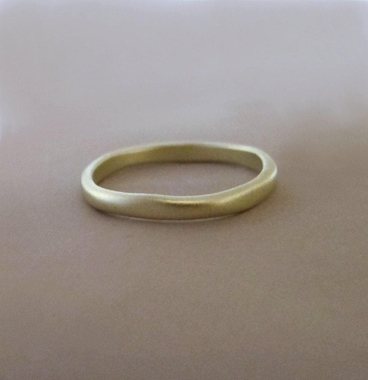 14k green gold wedding ring matte finish 2 mm river. Black Bedroom Furniture Sets. Home Design Ideas