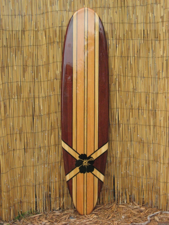 Wooden decorative surfboard wall art wall hanging or beach for Surf decoration
