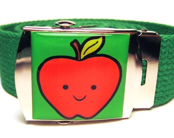 SALE Happy Apple Canvas Belt