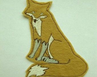 Tan fox iron on patch