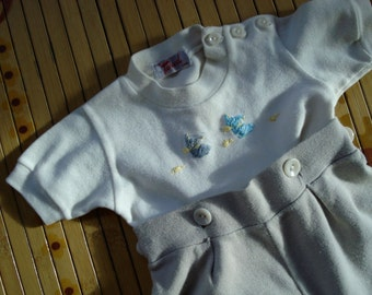 Vintage 1960s Baby Romper Jumpsuit Snuggly 6 9 Months 2013340