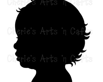 Instant Download, Baby Silhouette, PNG Graphics, Digital Images, Digital Download Clip Art