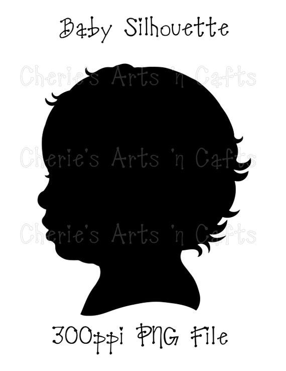 Instant Download Baby Silhouette Png Graphics Digital