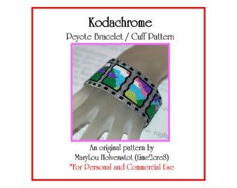 Peyote Bracelet Pattern ... KODACHROME ... Film . Photography . Sunset . Colorful . Simon and Garfunkel . Mountains . Scenery . 3 for 2